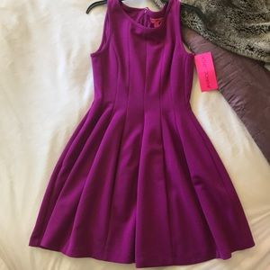 Fuchsia Fit and Flare Dress